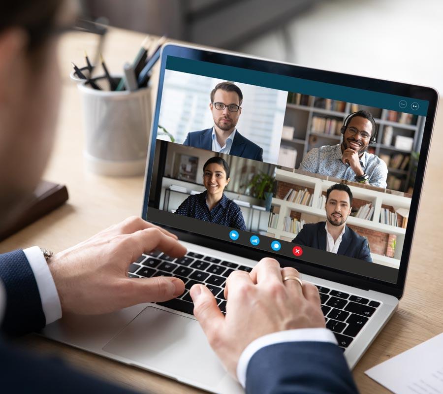 Future of work - online gesprekken met colega's